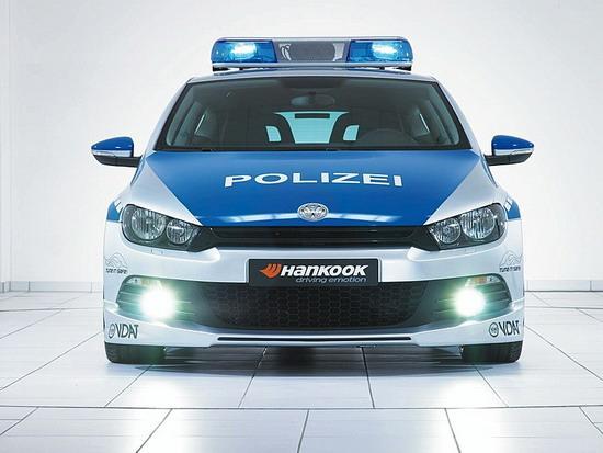 图为Scirocco尚酷警车版