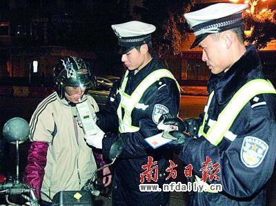 交警将继续定期夜间清查酒后驾车行为