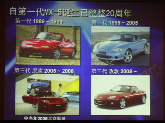 参加本次上海车展的MX-5为第三代车型的中期改款