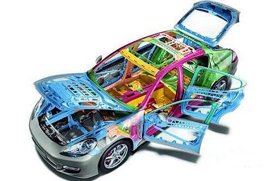 保时捷Panamera采用了创新技术的轻量化车身结构,大量使用铝镁金属和塑料