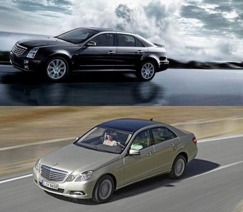 SLS赛威和新E级外型对比