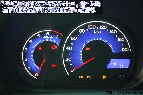 蓝色背景灯的仪表盘科技感十足