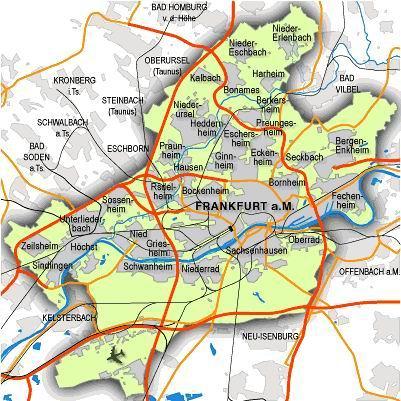 德国法兰克福城市地图