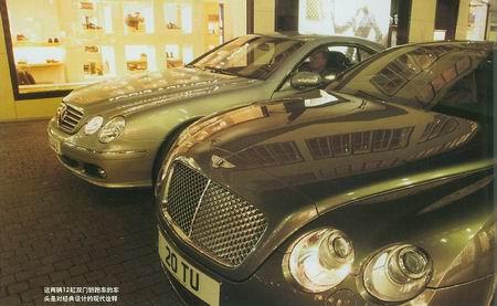大相扑宾利大陆GT和奔驰CL600