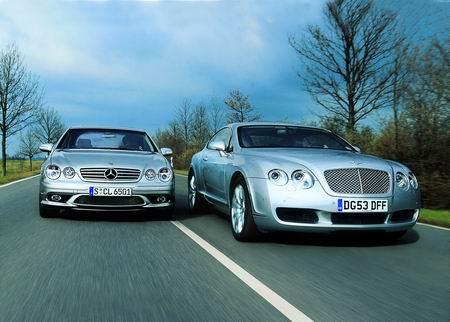 对比奔驰CL65AMG和宾利大陆GT