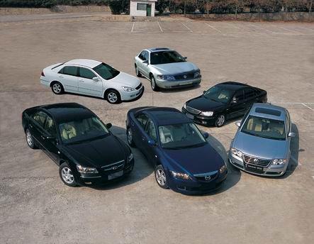 对比测试六款中级车2.0版