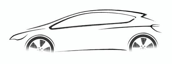 欧宝汽车手绘图
