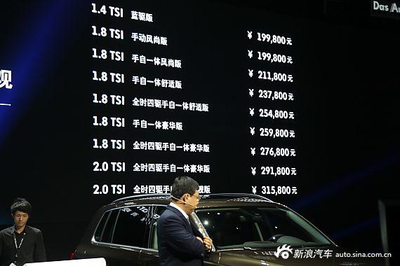 2013款上海大众途观售价