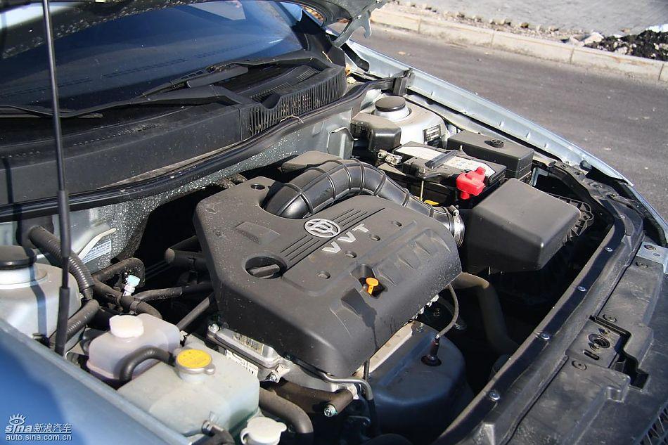 中华骏捷FSV试车实拍图发动机细节与其他