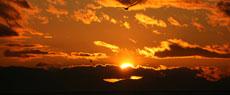 阳光海岸戴维斯湾的绚丽日落