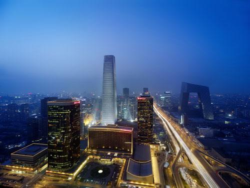 国贸中心夜景