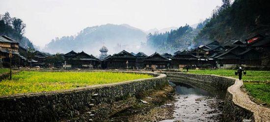 侗寨的田园风