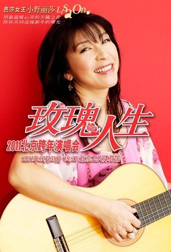 芭莎女王――小野丽莎玫瑰人生 2011北京跨年演唱会lisa海报2(2)