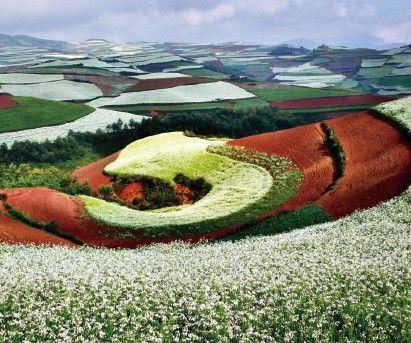 东川红土地:苍穹下的千彩万花筒