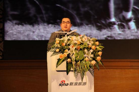 新浪市场及地方站业务部总经理葛景栋介绍新浪旅游战略发布