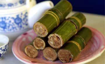 竹筒饭 图片来源:新浪旅游