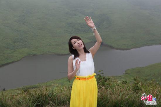 中国好声音金池应邀在家乡福鼎嵛山岛拍摄mv. 黄益升 摄