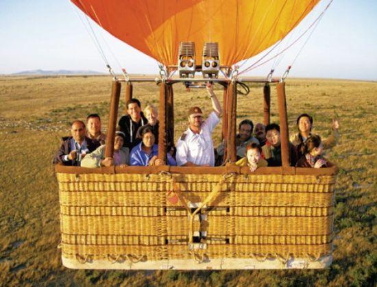 马赛马拉热气球,人与自然和谐相处