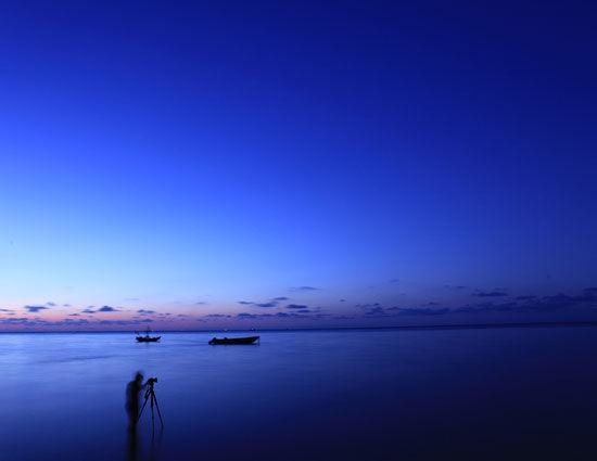 美丽的涠洲岛傍晚