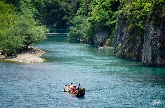 楠溪江的清秀山水