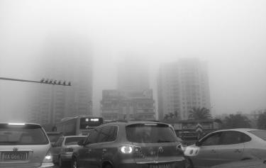 大雾笼罩海口