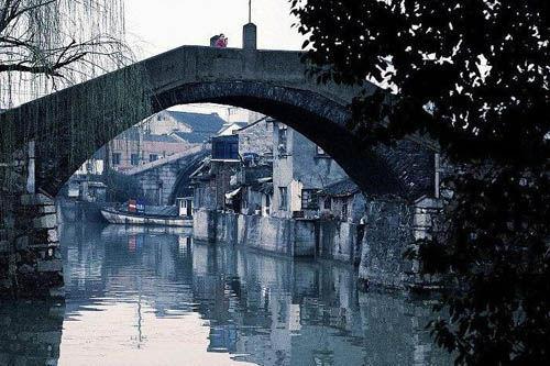 壁纸 风景 古镇 建筑 旅游 桥 摄影 500_333