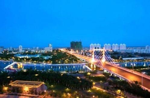 乌鲁木齐米东区夜景