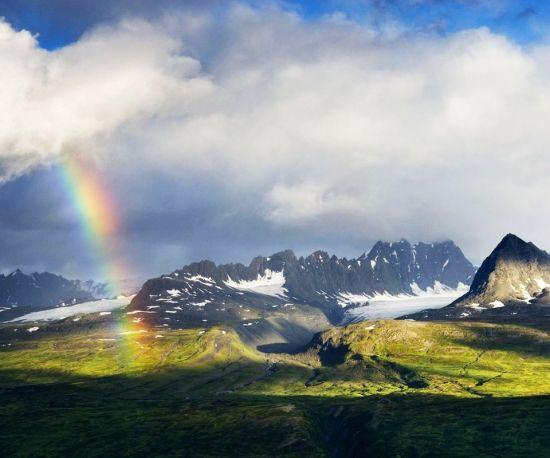 西藏那曲彩虹之美
