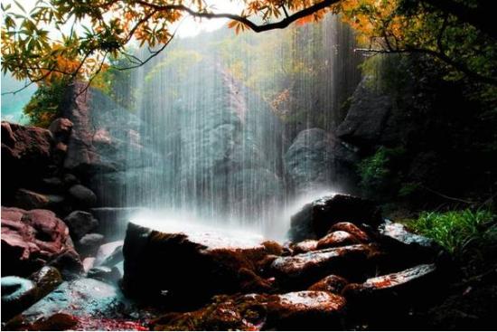 <青云山>   青云山,国家级AAAA重点景区、国家重点风景名胜区,因山峰平地拔起,矗立青云而得名。山高林茂,云雾飘渺,瀑布众多。9条溪流盘桓其间,形成了系列瀑布和深潭,其中九天瀑布号称亚洲最大的梯级瀑布。主要旅游景点有九天瀑布、青龙瀑布、云天石廊、桫椤神谷景区及单独管理的天池草甸景区(中国云顶)。