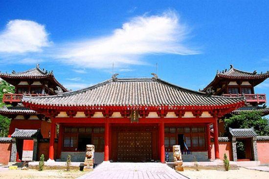复原后的大龙宫寺