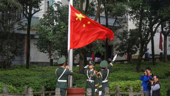 升旗仪式图片