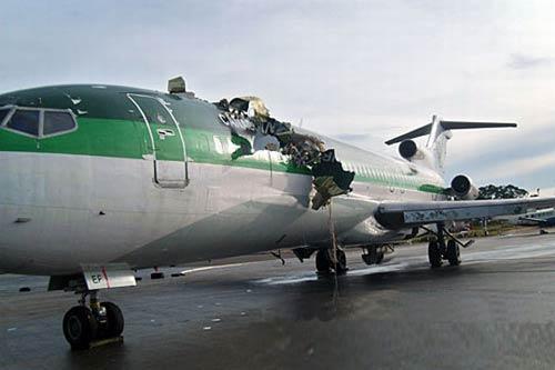 刚果(布)一货运飞机在首都南部坠毁 6人死亡(组图)