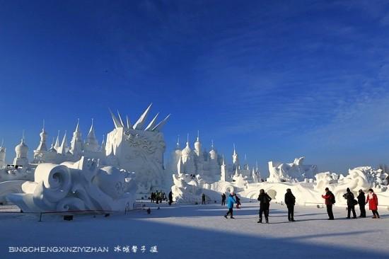 太阳岛雪雕,用雪演绎的梦想世界