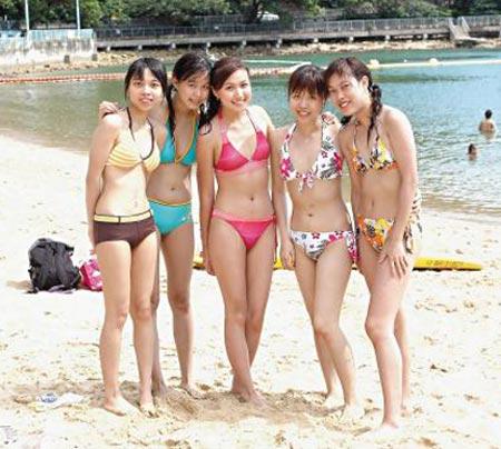 香港沙滩美女性感比基尼组图