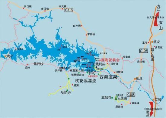 庐山景区地图高清版