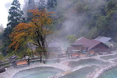 温泉中含有丰富的矿物质