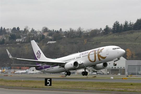 天津——珠海——三亚航线执飞机型为波音737-800,每周一,三,五,七共