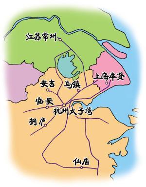 杭州周边踏青地图