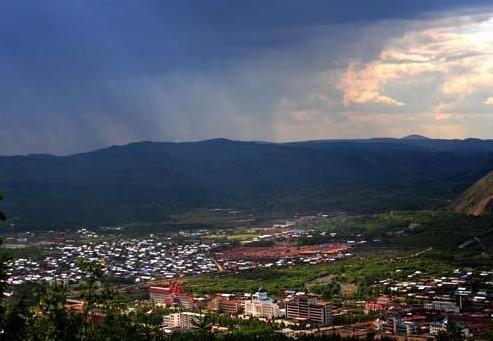 呼伦贝尔莫尔道嘎镇景色