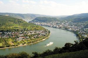 这里标志着中莱茵河谷上游的开端,相当于长江三峡的夔门峡口。