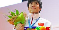 08年刘翔首夺室内世锦赛金牌