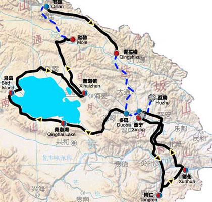 2010年环湖赛全程路线图