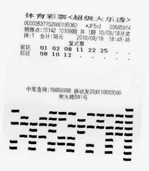 大乐透1033万彩票(上海市体彩中心供图)