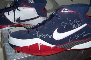 鞋狂论坛:科比亲笔双签Zoom Kobe I 美国队配色