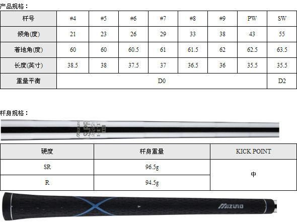Mizuno JPX 800AD Forged铁杆(钢身)