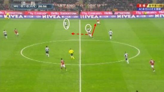 图5 蒙托利沃分球给德西利奥,之后前插