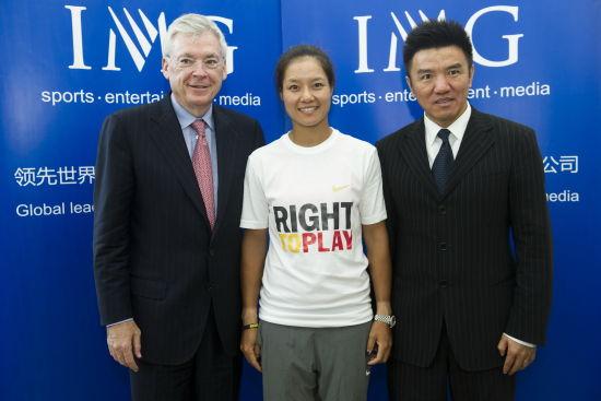 IMG集团董事长麦克・杜兰、大中华区主席朱亚当与李娜