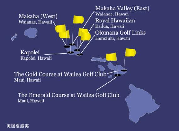 太平洋联盟球场地图(夏威夷)