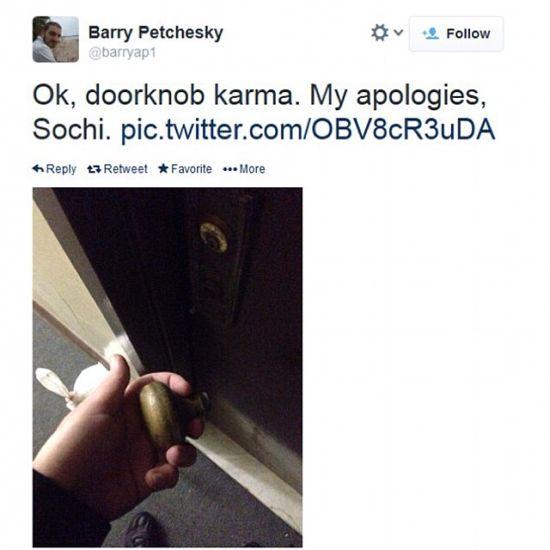 门把手一拉即掉