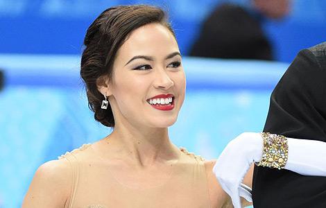 华裔混血花滑美女麦迪逊私照